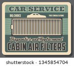 car cabin air filter  spare... | Shutterstock .eps vector #1345854704