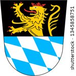 Coat of arms of the city of Amberg. Germany