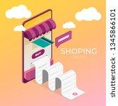vector illustration banner.... | Shutterstock .eps vector #1345866101
