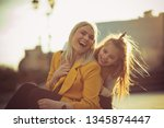 just us girls. mother and... | Shutterstock . vector #1345874447