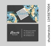 floral style business card... | Shutterstock .eps vector #1345879004