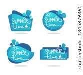 summer time  vector collection... | Shutterstock .eps vector #1345879361