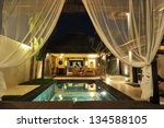 modern tropical villa with... | Shutterstock . vector #134588105