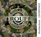 troupe on camo pattern | Shutterstock .eps vector #1345893431