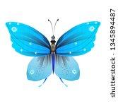 beautiful butterflies  blue...   Shutterstock .eps vector #1345894487