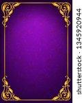 antique  baroque paper template | Shutterstock .eps vector #1345920944