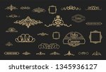 vintage decor elements and... | Shutterstock .eps vector #1345936127