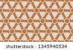 pattern with abstract illusion... | Shutterstock .eps vector #1345940534