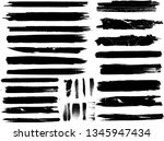 large grunge paint roller set.... | Shutterstock .eps vector #1345947434