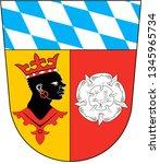 coat of arms of freising.... | Shutterstock . vector #1345965734