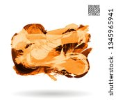 orange brush stroke and texture.... | Shutterstock .eps vector #1345965941