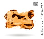 orange brush stroke and texture.... | Shutterstock .eps vector #1345965947