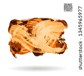 orange brush stroke and texture.... | Shutterstock .eps vector #1345965977