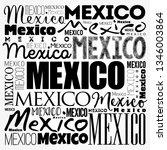 mexico wallpaper word cloud ...   Shutterstock .eps vector #1346003864