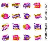 set of mega sale promotion... | Shutterstock .eps vector #1346010464
