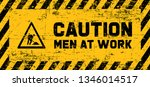 caution under construction men... | Shutterstock .eps vector #1346014517