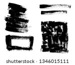 painted grunge stripes set.... | Shutterstock .eps vector #1346015111