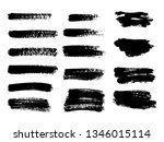 painted grunge stripes set.... | Shutterstock .eps vector #1346015114