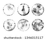 grunge post stamps collection ... | Shutterstock .eps vector #1346015117