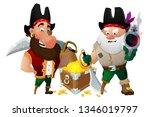 two pirates guard treasure... | Shutterstock .eps vector #1346019797