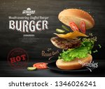 hamburger ads design on... | Shutterstock .eps vector #1346026241