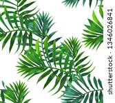 seamless pattern with tropical... | Shutterstock .eps vector #1346026841