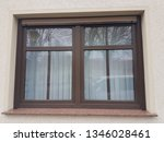 old brown wooden window | Shutterstock . vector #1346028461