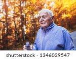 senior runner in nature.... | Shutterstock . vector #1346029547