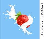 illustration of a splash of... | Shutterstock .eps vector #1346034674
