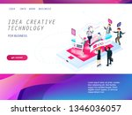 website landing page with... | Shutterstock .eps vector #1346036057