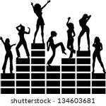 equalizer  music  disco ... | Shutterstock .eps vector #134603681