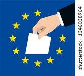 european elections. vector...   Shutterstock .eps vector #1346038964