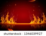 burning flame effect background ... | Shutterstock . vector #1346039927