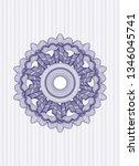 blue rosette  money style... | Shutterstock .eps vector #1346045741