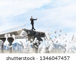 businessman walking blindfolded ...   Shutterstock . vector #1346047457