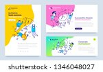vector set of template with... | Shutterstock .eps vector #1346048027