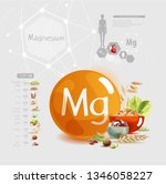 magnesium. foods with the... | Shutterstock .eps vector #1346058227