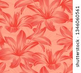 seamless floral pattern with... | Shutterstock .eps vector #1346060561