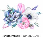 illustration of flowers.... | Shutterstock . vector #1346073641