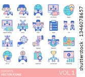esports icons including gamer ... | Shutterstock .eps vector #1346078657