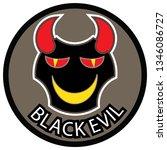 black evil   vector | Shutterstock .eps vector #1346086727