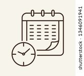 timetable line icon. schedule... | Shutterstock .eps vector #1346091941