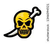 skull with bones sword mascot... | Shutterstock .eps vector #1346094521