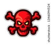 skull with crossbones mascot... | Shutterstock .eps vector #1346094524