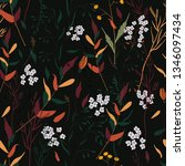 trendy floral pattern. isolated ... | Shutterstock .eps vector #1346097434