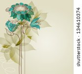 vector flowers | Shutterstock .eps vector #134610374