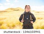 the successful woman mountain...   Shutterstock . vector #1346103941