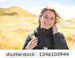 the successful woman mountain...   Shutterstock . vector #1346103944