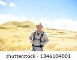 the successful man mountain...   Shutterstock . vector #1346104001