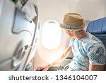 the passenger traveler in...   Shutterstock . vector #1346104007